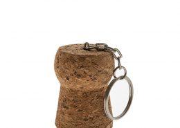 4678 Corky Champanage Cork Keychain bulk
