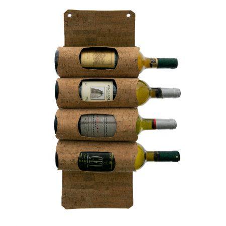 4692 Corky 4 Wine Bottles Hanging Display