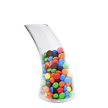 snak carafe filled with candy