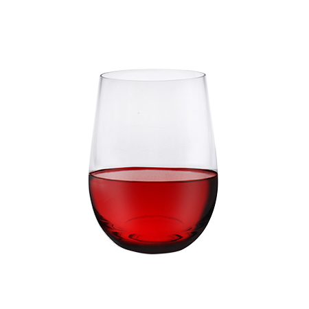 Casual Wine Tumbler Filled With Red Wine