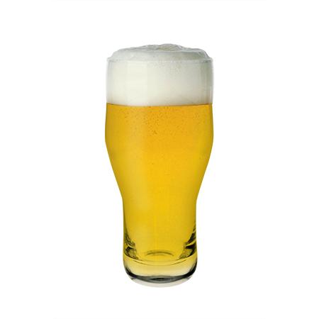 Masterbrew Craft Beer / Cider glass filled with beer