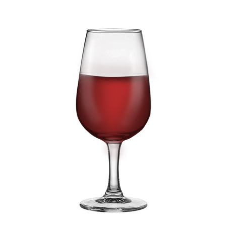 INAO Tasting Glass Filled With Red Wine