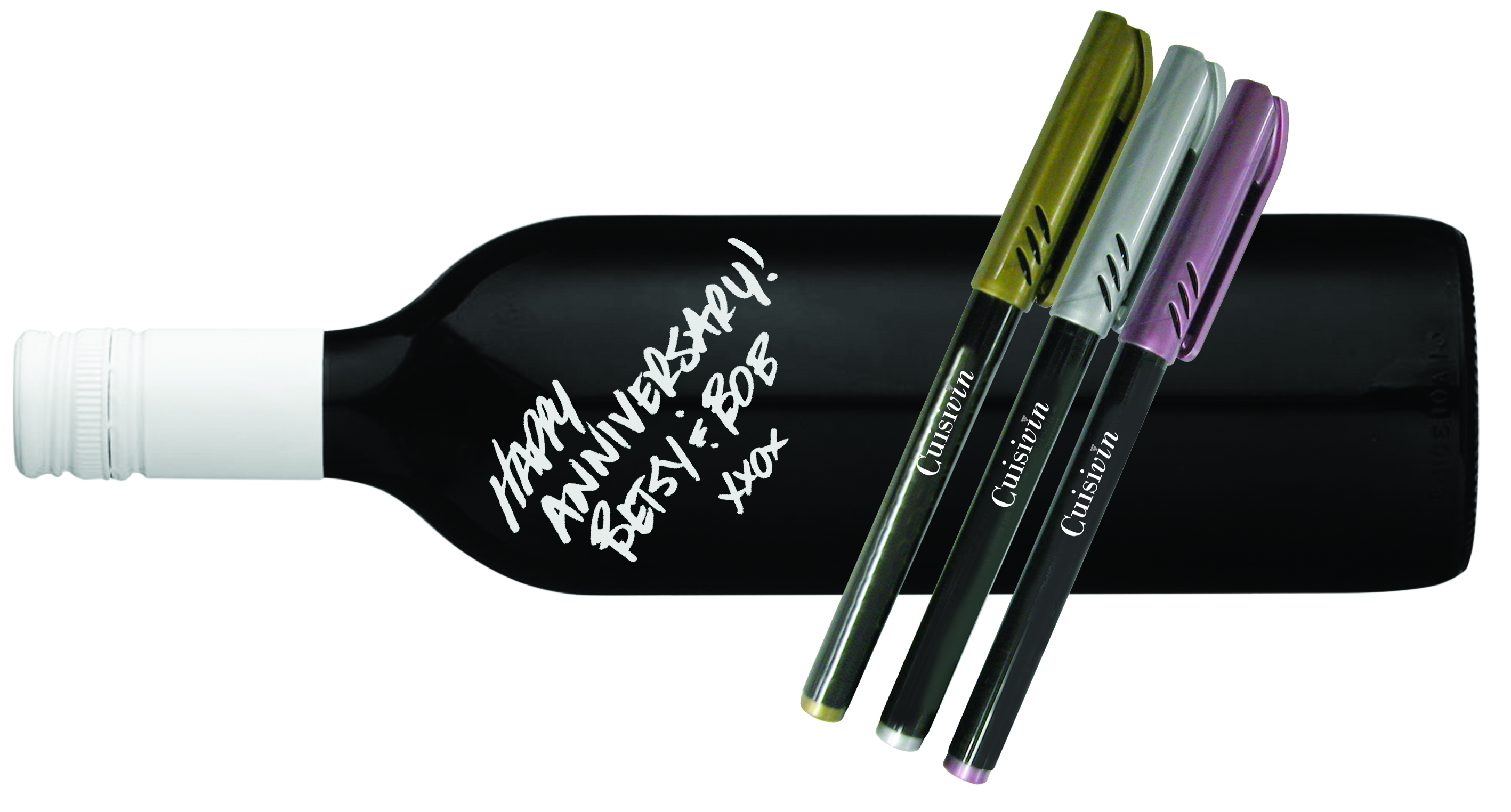 Cuisivin Wine Glass Metallic Markers Cuisivin